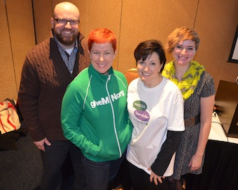 From left to right: Lars Leafblad, Dana Nelson, me,  and Jamie Millard