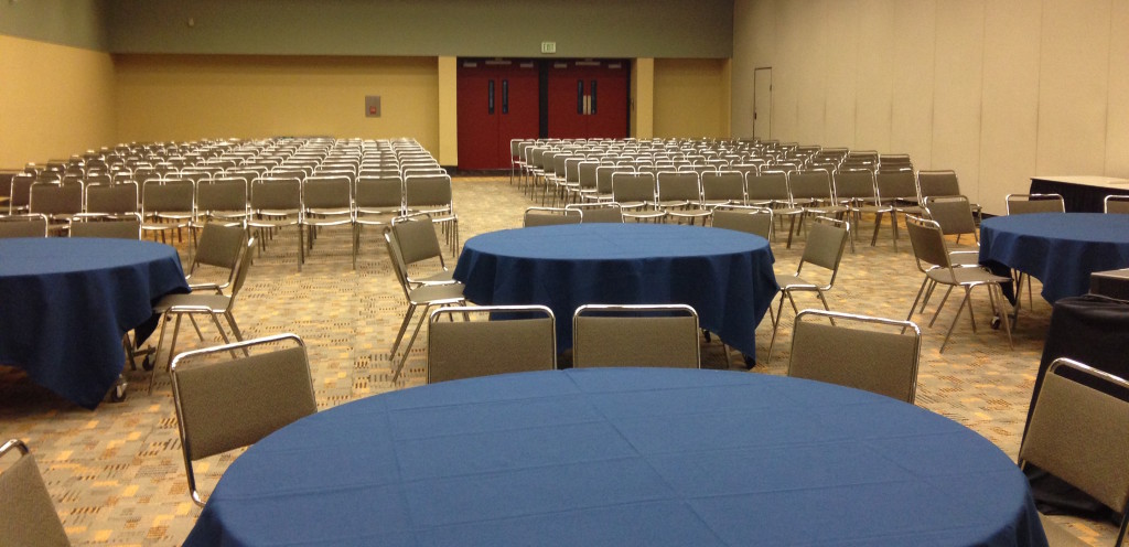 The room before it filled up.