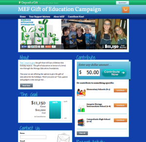Sample Crowdfunding Site for Education