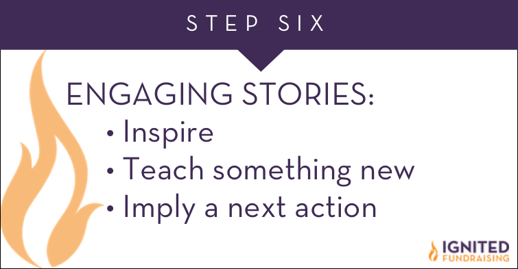 engaging stories inspire, teach, imply action