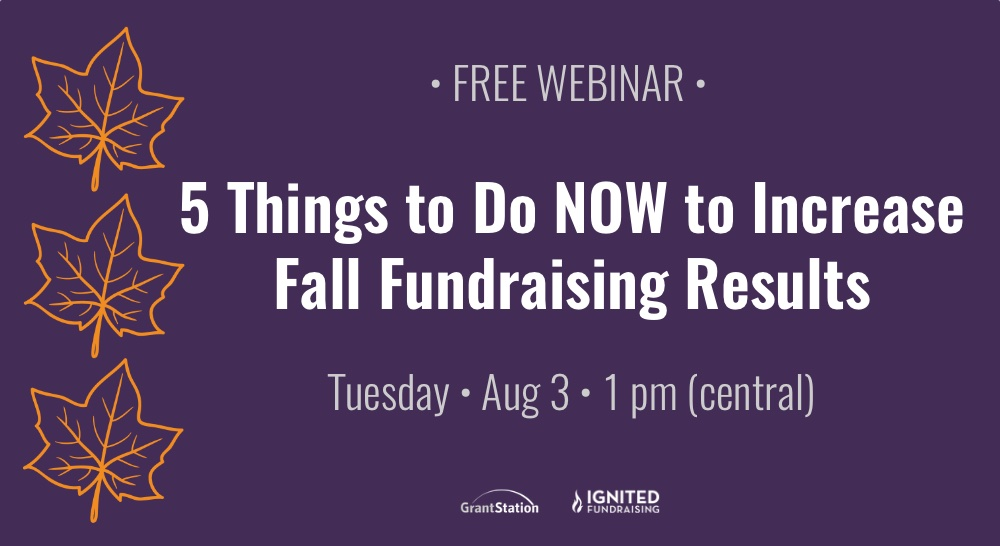 Increase Fall Fundraising Results